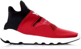 Y-3 Y 3 Suberou Red Neoprene Sneakers