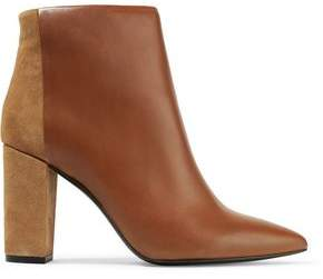 IRO Shenna Paneled Leather And Suede Ankle Boots