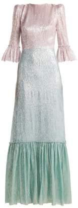 The Vampire's Wife - Festival Neapolitan Silk Blend Dress - Womens - Blue Multi