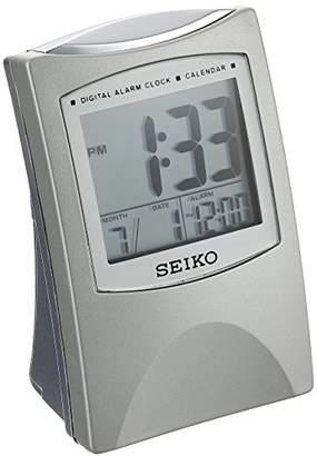 Seiko Bedside Alarm Get Up and Glow Clock -Tone Metallic Case