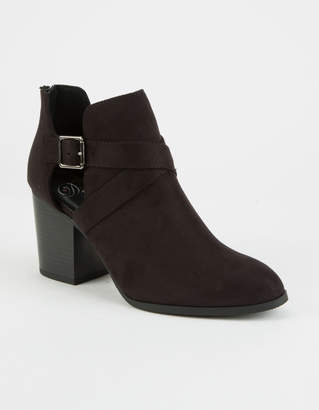 Love Delicious DELICIOUS Chopout Womens Heeled Booties