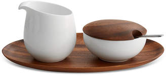 Nambe Skye Dinnerware Collection by Robin Levien 5-Pc. Lidded Sugar & Creamer Tray Set