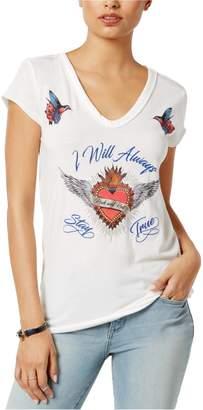 William Rast Womens Viva Sacred Heart Graphic T-Shirt M