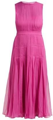 No.21 No. 21 - Pleated Silk Chiffon Midi Dress - Womens - Pink