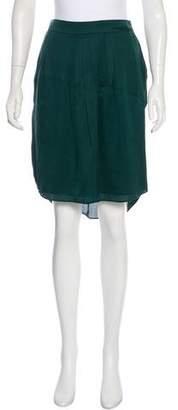Theyskens' Theory Knee-Length Silk Skirt