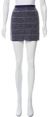 Gryphon Silk Embellished Mini Skirt