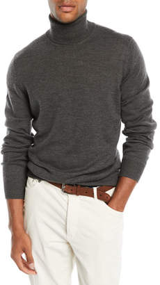 Brunello Cucinelli Men's Wool-Cashmere Chunky Turtleneck Sweater