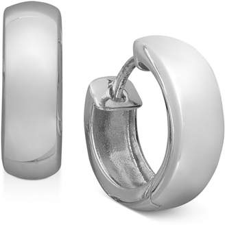 """Giani Bernini Extra Small Sterling Silver Round Dome Hinge Hoop Earrings, 0.5"""""""