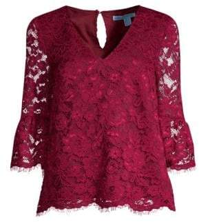 Draper James Lace Bell Sleeve Blouse