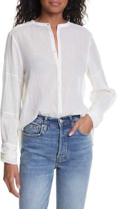 BA&SH Samy Long Sleeve Cotton Shirt