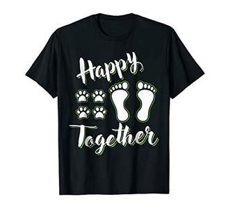 Human And Dog Happy Together Dogs T-shirt For Men Women