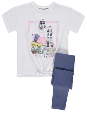 George Girl Scene T Shirt and Leggings Outfit