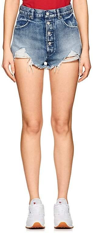 Women's Leo High Waist Denim Cutoff Shorts