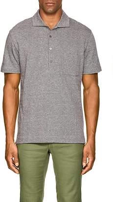Luciano Barbera Men's Cotton-Linen Piqué Polo Shirt