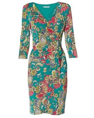 Gina Bacconi Stasia Paisley Jersey Dress