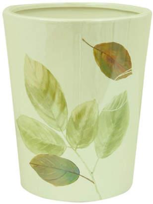 Bacova GUILD Waterfall Leaves Ceramic Wastebasket