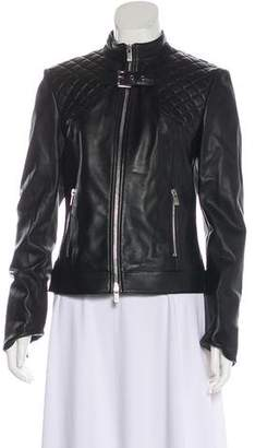 Michael Kors Leather Quilted Jacket