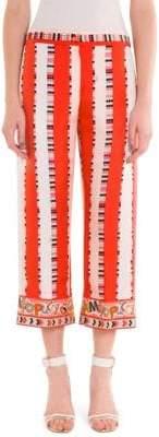 Emilio Pucci Silk Twill Ama Print Crop Pants