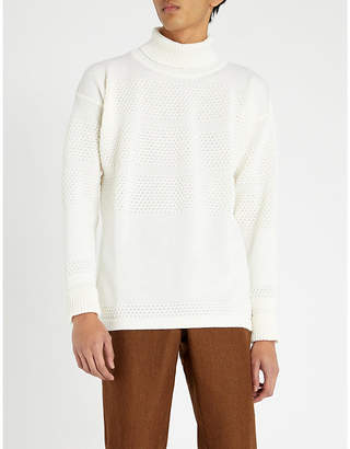 S.N.S. Herning Textured wool turtleneck jumper