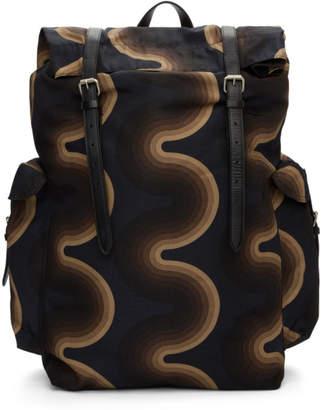 4fb18a6fae1 Dries Van Noten Navy Verner Panton Edition Wave Backpack