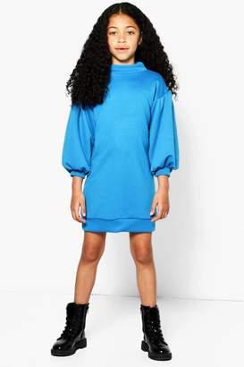 boohoo Girls Funnel Neck Sweat Dress