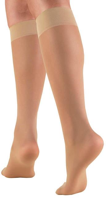 Beige Sheer 20-30mmGh Light Compression Stockings - Women