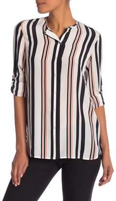 BOSS Relliana Striped Silk Blouse
