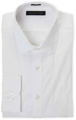 Tommy Hilfiger White Slim Fit Dobby Solid Dress Shirt