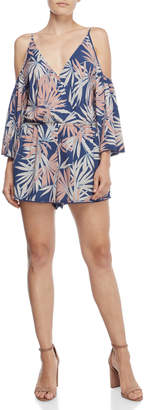 MONICA L Space By Wise Palm Soho Cover-Up Romper