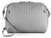 Bottega VenetaBottega Veneta Small Pillow Intrecciato Leather Crossbody Bag