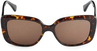 Ralph Lauren 55MM Tortoiseshell Square Sunglasses
