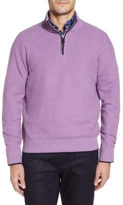 Tailorbyrd Ossun Tipped Quarter Zip Sweater