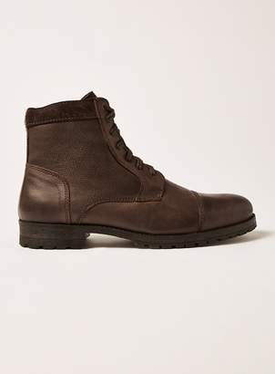 Brown Leather Toby Lace Boots