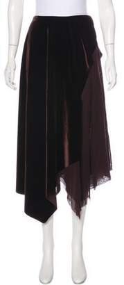Fuzzi Velvet Midi Skirt