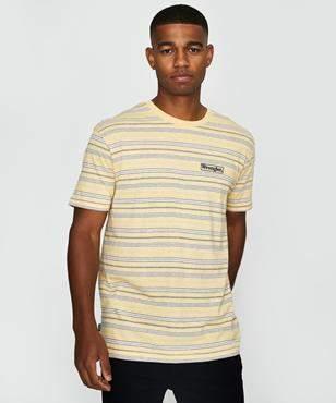 Wrangler Vedder T-shirt Yellow Stripe