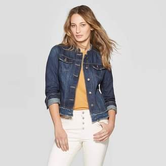 31583ae5c1d Universal Thread Women's Collarless Fashion Denim Jacket - Universal Thread  Medium Wash