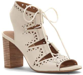 Lucky Brand Tafia Lace-Up Block-Heel Sandal $119 thestylecure.com