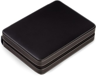 Bey-Berk Bey Berk Leather Black 8-Slot Watch Storage Case