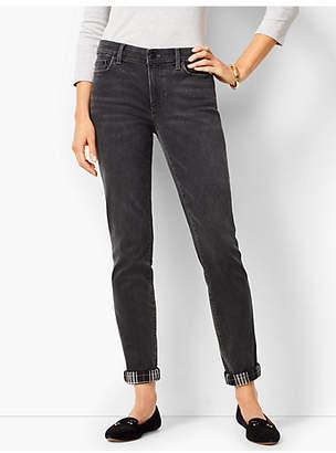 Talbots Girlfriend Jeans - Angela Wash - Flannel Cuff