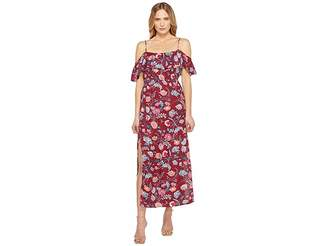 Lucky Brand Floral Maxi Dress Women's Dress
