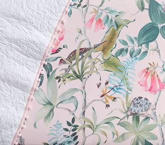 Pottery Barn Kids Sateen Zoe Floral Crib Fitted Sheet