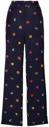 Paul Smith printed wide-leg trousers
