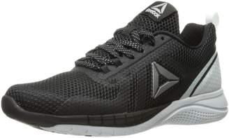 Reebok Women's Print Run 2.0 Running Shoes, Black/Polar Blue/Pewter