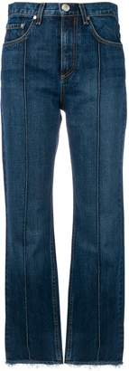Rag & Bone Jean pin tuck detail cropped jeans