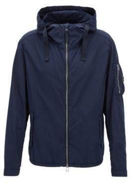 BOSS Hugo Brushed Cotton Jacket Olvaro D 40R Dark Blue
