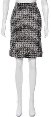 Chanel Knee-Length Tweed Skirt