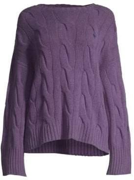 Polo Ralph Lauren Silk Cableknit Sweater