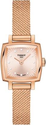 Tissot Lovely Square Diamond Bracelet Watch, 20mm