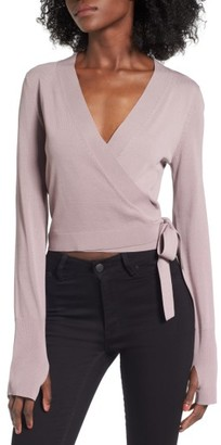 Women's Leith Ballet Wrap Sweater $59 thestylecure.com