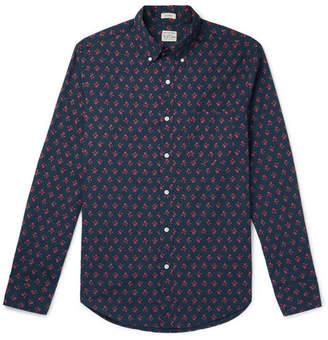 J.Crew Slim-Fit Button-Down Collar Floral-Print Stretch-Cotton Shirt